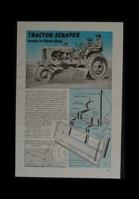 Scraper Blade For Vintage Farm Tractor 6 Wide 1946 How-to Build Plans