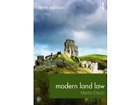 MODERN LAND LAW - MARTIN DIXON