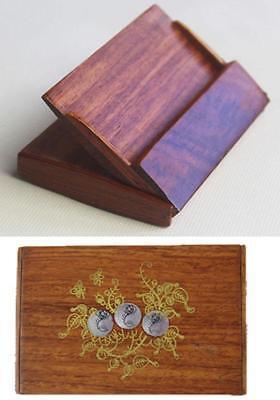 New Wooden Business Name Card Box Storage Keepsake Holder Gift