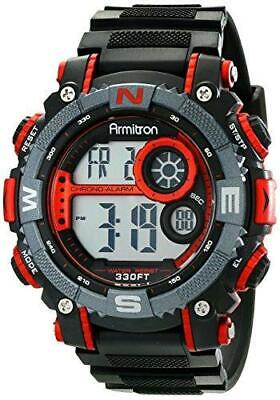 Armitron Sport Men's 40/8284RED Large Metallic Red Accented