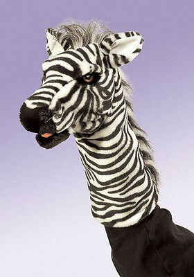 ZEBRA STAGE PUPPET # 2565 ~ FREE SHIPPING IN USA ~ Folkmanis Puppets Zebra Stage Puppet