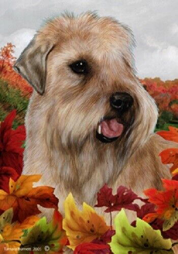 Fall House Flag - Wheaten Terrier 13056