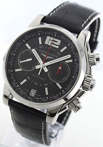 NEW Authentic Longines Admiral Chronograph Automatic Mens Watch L3.666.4.56.2