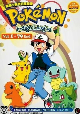 DVD Pokemon Indigo League Vol.1-79 End Complete TV Series English Audio Anime
