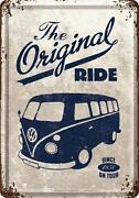 Blechschild VW Bus