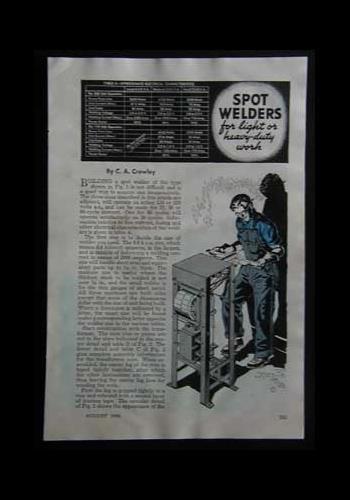 Spot Welder 110 or 220 volt 1946 HowTo build PLANS -3 models
