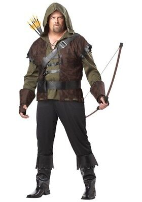 USED MEN'S ROBIN HOOD ARCHER COSTUME SIZE PLUS (with defect) ()