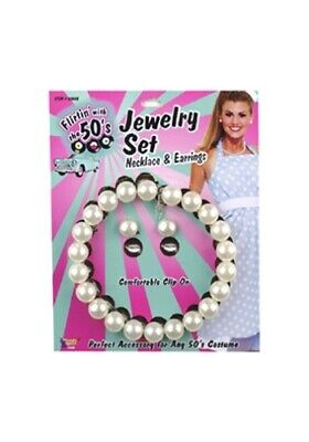 как выглядит 50s Pearl Set Costume Jewelry фото