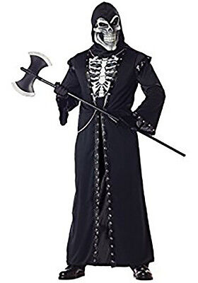 Boys Crypt Master Skeleton Grim Reaper Halloween Costume Choose Your Size NEW  ()