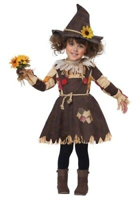 Toddler Scarecrow Costumes (TODDLER GIRLS PUMPKIN PATCH SCARECROW COSTUME SIZE LARGE 4T (with)