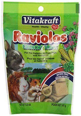 Vitakraft Raviolos Crunchy Treat for Pet Rabbits, Guinea Pigs & Hamsters, 5 Ounc - New Vitakraft Rabbit