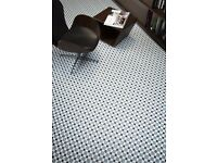 2 large floor tiles Henley Ice 45cm by 45cm