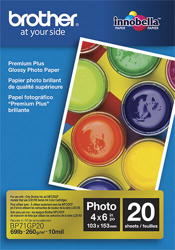 Brother Inobella Glossy Photo Paper White BP71GP20