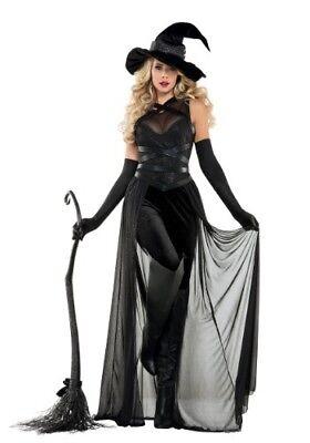 WOMEN'S SEXY RAVEN WITCH BLACK DARK SORCERESS COSTUME SIZE XL](Dark Witch Costume)