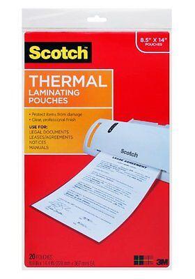 Scotch Thermal Laminating Sheets  8 5  X 14  Inches  20 Sheets  Tp3855 20    New