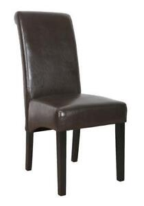 6 Faux Leather Dining Chairs  sc 1 st  eBay & 6 Leather Dining Chairs | eBay
