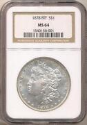 1878 Morgan Silver Dollar MS64