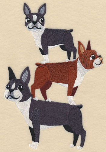 BOSTON TERRIER STACK  BATHROOM SET HAND TOWELS Adorable