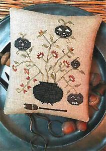 Halloween Toil & Trouble Pinkeep Stacy Nash Primitives Cross Stitch Pattern