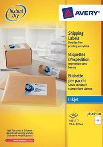 Avery white plain address labels 100 Sheet Packs J8169-100