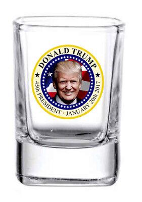 - President Trump 2 oz. Square whiskey / shot glass NEW