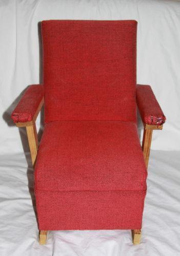 Vintage Childs Wooden Rocking Chair Ebay