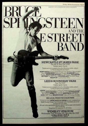 List Of Bruce Springsteen Tours