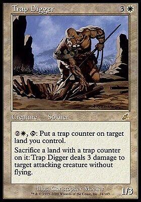 1x Trap Digger Scourge MtG Magic White Rare 1 x1 Card Cards