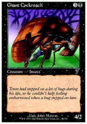4x Giant Cockroach MTG 7th Edition NM Magic Regular  - Giant Cockroach