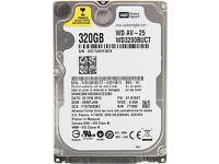 "Western Digital WD3200BUCT 320GB 2.5"" Sata Laptop Hard Disc Drive HDD"