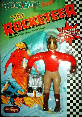 ROCKETEER + DISNEY MOVIE ACTION BENDABLE & POSABLE FIGURE-mint on card