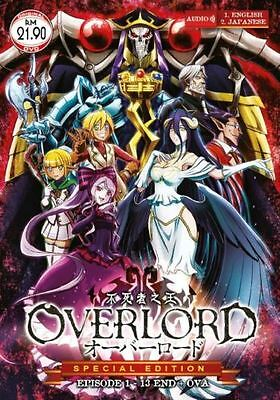 Overlord Anime Dvd  Vol   1 To 13 End   Ova  With English Dubbed