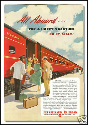 1949 Pennsylvania Railroad vintage ad