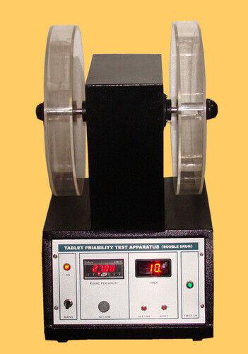 Digital Friability Test Apparatus double drum Lab Equipment aluminum & white
