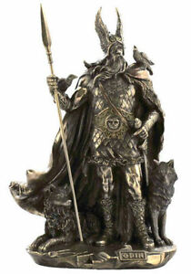 Odin Viking Figure Norse God Statue Sculpture - SHIPS IMMEDIATELY !