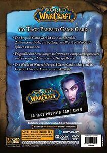 WoW Game Card - 60 Tage Gametimecard Code Prepaid Spielzeit Key Battle.net PC EU