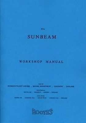 SUNBEAM Alpine/Talbot 90 1953 to 55 Car Shop manual Catalogue Book Paper
