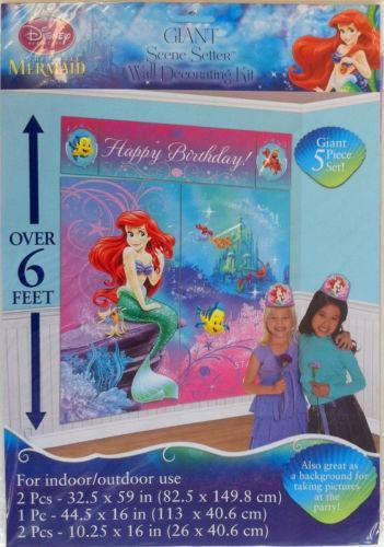 Little mermaid party decorations ebay for Ariel birthday decoration ideas