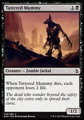 MTG 4x Tattered Mummy [English, Playset, Amonkhet, Free P&P]