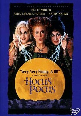 Disney Halloween Cult Classic Hocus Pocus DVD Bette Midler Witch Musical Comedy - Classic Disney Halloween Movies
