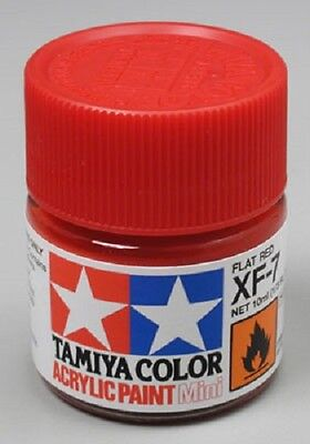 Tamiya XF7 Flat Red Acrylic Model Paint 81707 (Red Model)