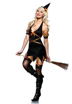 Seven Til Midnight Sexy Salem Siren Witch Complete Costume New M medium 3 Piece ](Seven Til Midnight Costumes)