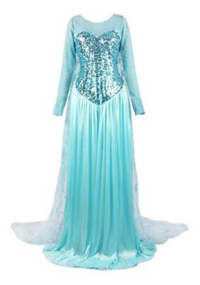 ReliBeauty Womens Princess Elsa Fancy Dress Costume XXX-Large, Light Blue