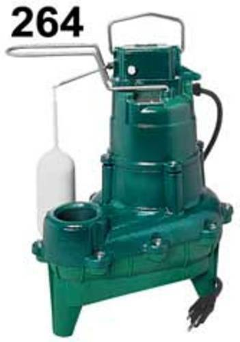 Zoeller 264-0001 4/10 Hp Automatic Submersible Sewage & Effluent Pump