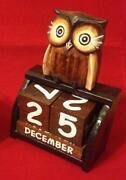 Carved Wooden Owl