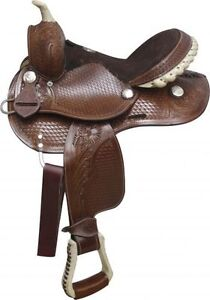 """10"""" 12"""" 13"""" inch Youth Pony Western Saddle Leather New $297 DEAL London Ontario image 2"""