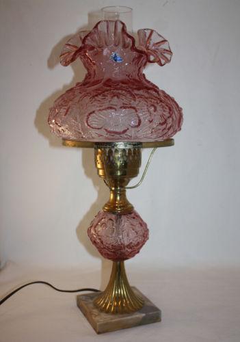 Fenton Poppy Lamp | eBay