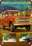 Ford Bronco Sign