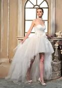 Short Strapless Wedding Dress