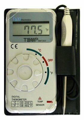 Industrial Grade Digital Celsius Fahrenheit Thermometer W 20-inch Cable By Hm